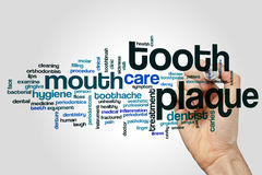 Tooth plaque word cloud Stock Photography