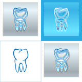 Tooth Poster  Stomatology 3D Icons. Tooth Poster  Stomatology 3D Icon. Vector illustration Royalty Free Stock Photo