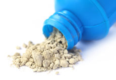 Tooth powder with bottle Stock Photos