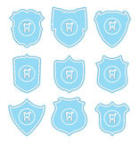 Tooth protect icons, vector  Stock Image