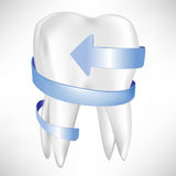 Tooth protection with blue arrow Royalty Free Stock Photo
