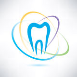 Tooth protection symbol. Tooth protection abstract stylized symbol Royalty Free Stock Photography