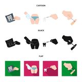 Tooth, X-ray, instrument, dentist and other web icon in cartoon,black,flat style.surgeon, abscess, scalpel icons in set. Tooth, X-ray, instrument, dentist and Royalty Free Stock Images