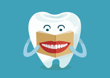 Tooth reading smile magazine Royalty Free Stock Photography