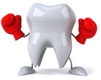 Tooth ready to fight Stock Photography
