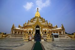 Tooth Relic Pagoda, Yangon .This Pagoda is newly made after 2nd world war. stock image
