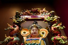 The Tooth Relic temple in Singapore.  royalty free stock photo