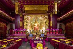 The Tooth Relic temple in Singapore royalty free stock photography