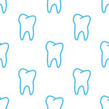 Tooth seamless pattern Royalty Free Stock Images