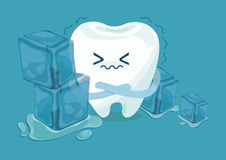 Tooth is so sensitive to coldness Royalty Free Stock Images