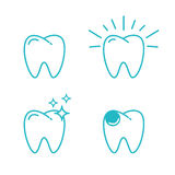 Tooth set Stock Images