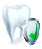 Tooth and Shield Concept Royalty Free Stock Photos
