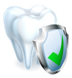 Tooth and Shield Stock Photography