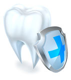 Tooth and Shield Protection Concept Stock Photography