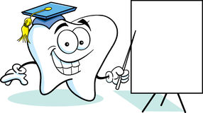 Tooth with a Sign Royalty Free Stock Photography