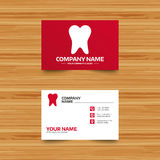 Tooth sign icon. Dental care symbol. Stock Photos