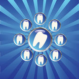 Tooth sign Stock Photography