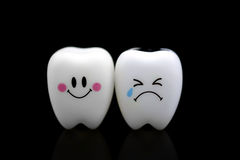 Tooth smile and cry emotion Royalty Free Stock Photos