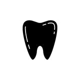 Tooth solid icon. Dental and medicine, vector graphics, a filled pattern on a white background, eps 10 Stock Photography