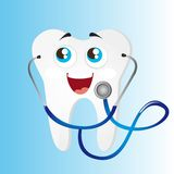 Tooth with stethoscope Royalty Free Stock Images