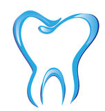 Tooth stylized draw logo Stock Image