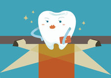 Tooth for super star Stock Image