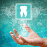 Tooth Symbol on hand Royalty Free Stock Photo