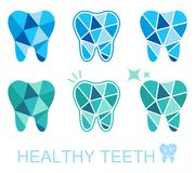Tooth symbol set. Vector illustration Royalty Free Stock Photos