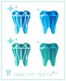 Tooth symbol set. Vector illustration Royalty Free Stock Images