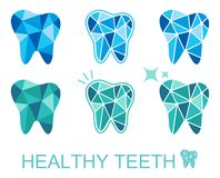 Tooth symbol set. Vector illustration Stock Images