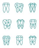 Tooth symbol set. Vector illustration Royalty Free Stock Image