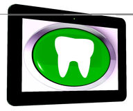 Tooth Tablet Means Dental Appointment Or Teeth Stock Images