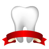 Tooth With Tape Stock Photo