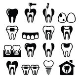 Tooth , teeth, dental clinic  icons set Royalty Free Stock Images