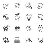 Tooth, Teeth icon set Royalty Free Stock Photo