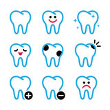 Tooth , teeth  icons set in color Stock Photos
