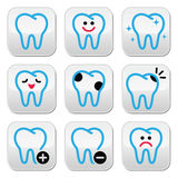 Tooth, teeth  icons set in color Royalty Free Stock Photography