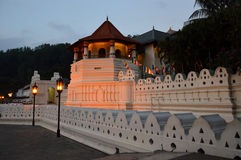 Tooth temple in Sri Lanka. ,at dusk royalty free stock images