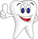 Tooth with thumb up Royalty Free Stock Photo