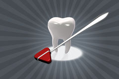 Tooth and tool Royalty Free Stock Images
