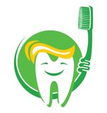 Tooth and toothbrush. Vector illustration of the Tooth and toothbrush Stock Images