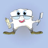 Tooth and toothpaste Stock Image