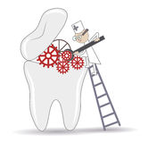 Tooth treatment Royalty Free Stock Image