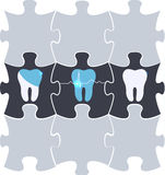 Tooth treatment symbol puzzle Stock Image