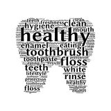 Tooth typography Royalty Free Stock Images
