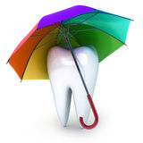 Tooth and umbrella Royalty Free Stock Photography
