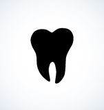 Tooth. Vector drawing Royalty Free Stock Images
