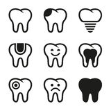 Tooth vector icons set Stock Photography