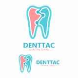 Tooth vector logo template Royalty Free Stock Photo