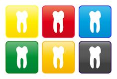 Tooth web button Royalty Free Stock Photo